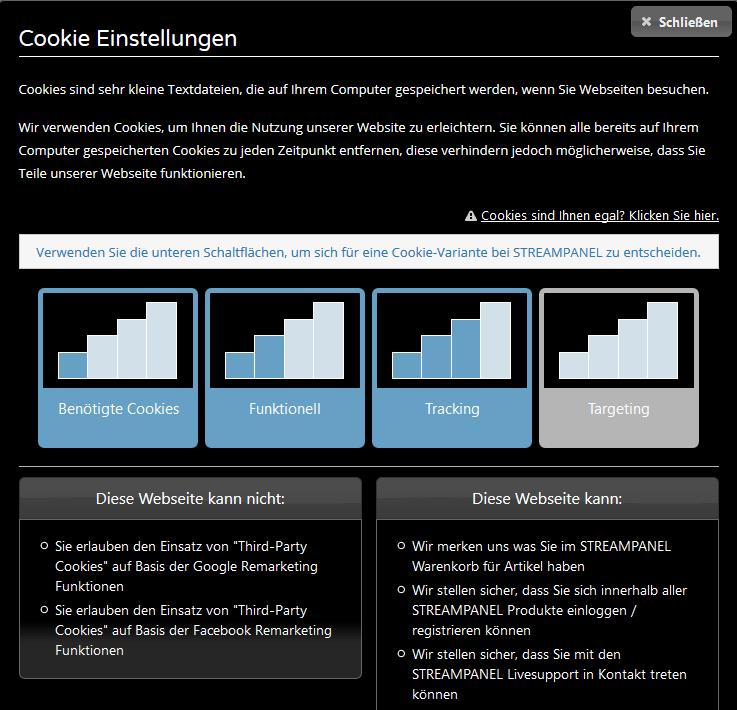 Cookie Einstellungen